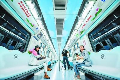 """""""清风北京""""廉洁文化主题地铁列车亮相"""