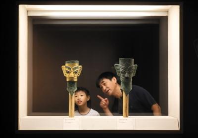 古蜀文物国博开展